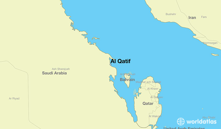 map showing the location of Al Qatif