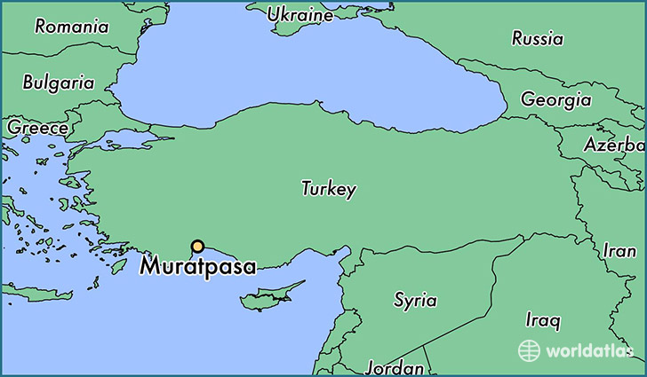 map showing the location of Muratpasa