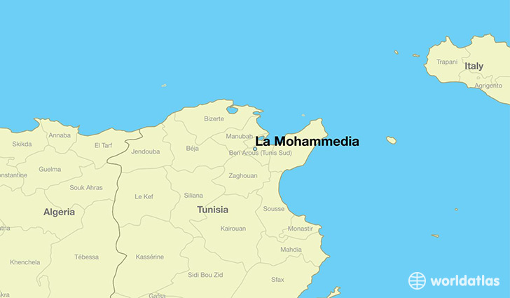 map showing the location of La Mohammedia
