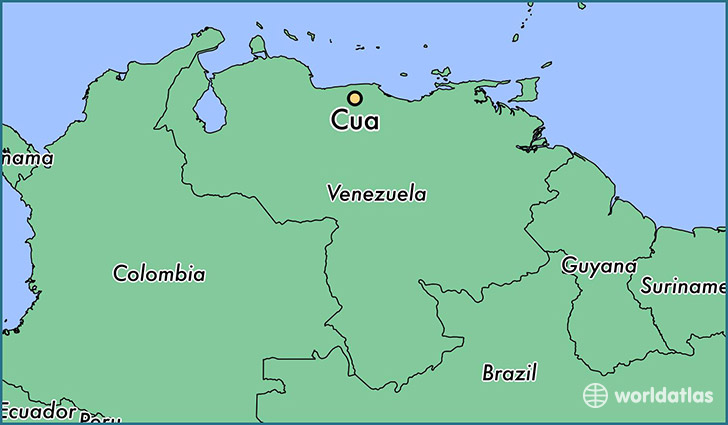 map showing the location of Cua