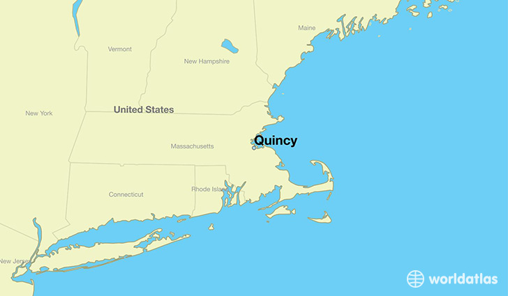 map showing the location of Quincy
