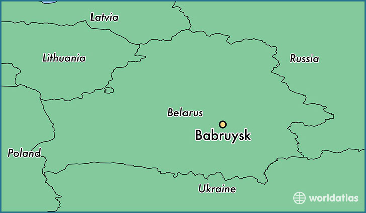map showing the location of Babruysk