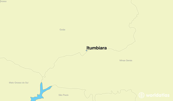 map showing the location of Itumbiara