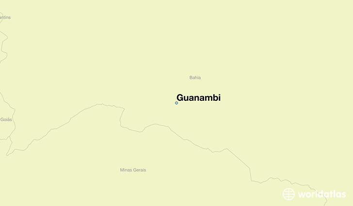 map showing the location of Guanambi