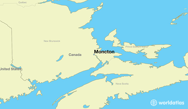 Map Of Canada New Brunswick.Where Is Moncton Nb Moncton New Brunswick Map Worldatlas Com