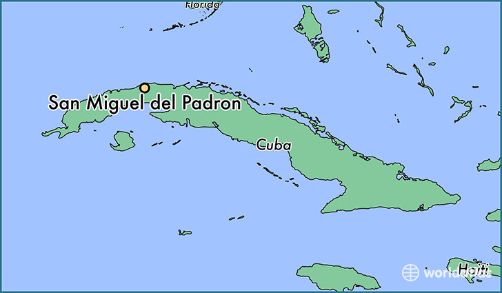map showing the location of San Miguel del Padron