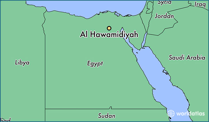 map showing the location of Al Hawamidiyah
