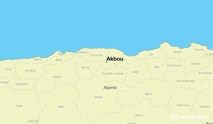 Where Is Akbou Algeria Akbou Bejaia Map WorldAtlascom - Béjaïa map