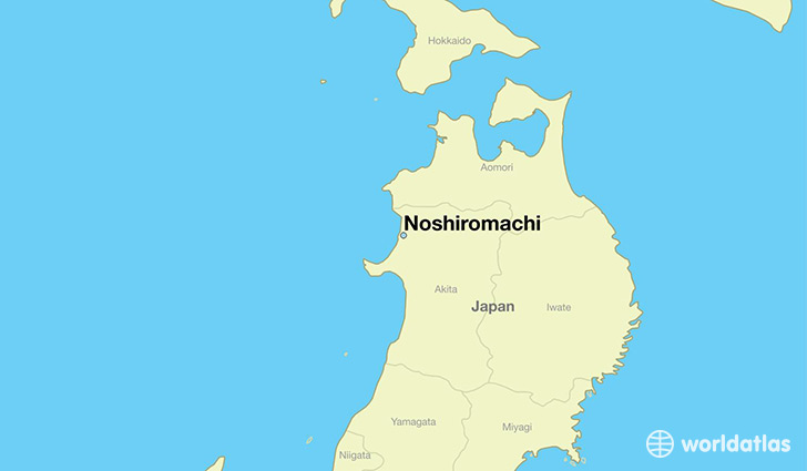 map showing the location of Noshiromachi