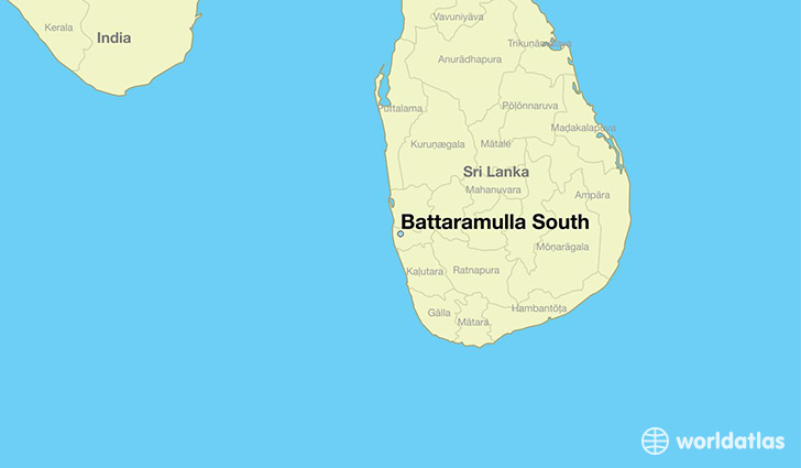 map showing the location of Battaramulla South