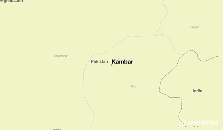map showing the location of Kambar