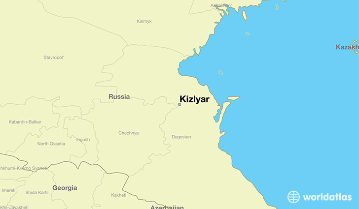 map showing the location of Kizlyar