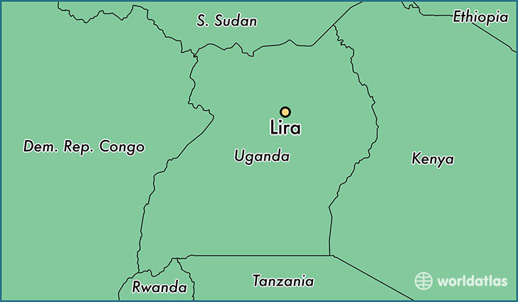 map showing the location of Lira