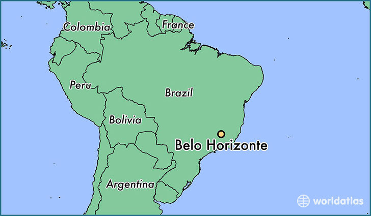 map showing the location of Belo Horizonte