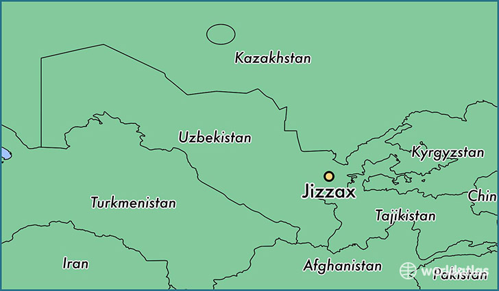 map showing the location of Jizzax