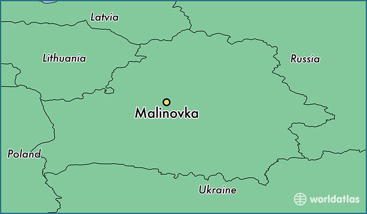 map showing the location of Malinovka