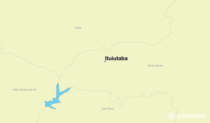 map showing the location of Ituiutaba