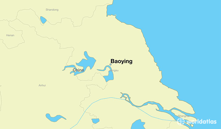 map showing the location of Baoying