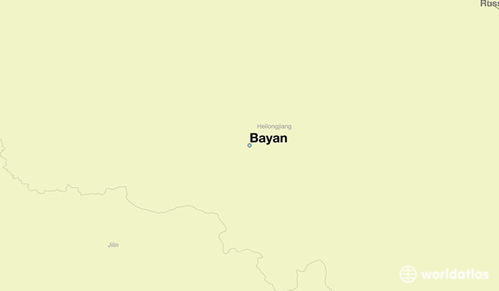 map showing the location of Bayan