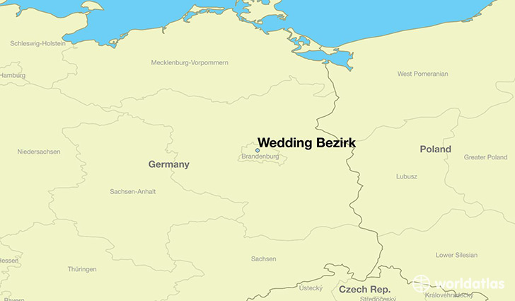 map showing the location of Wedding Bezirk
