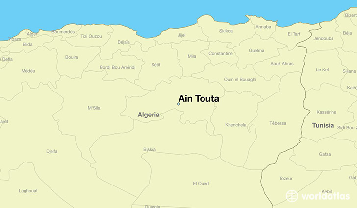 map showing the location of Ain Touta