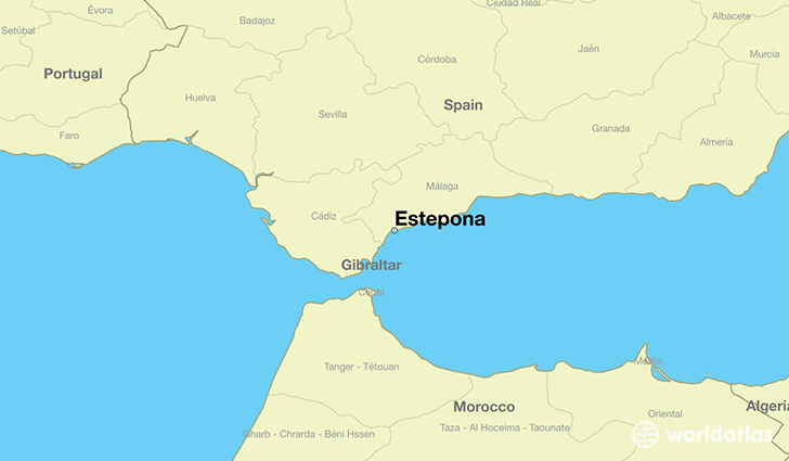 map showing the location of Estepona