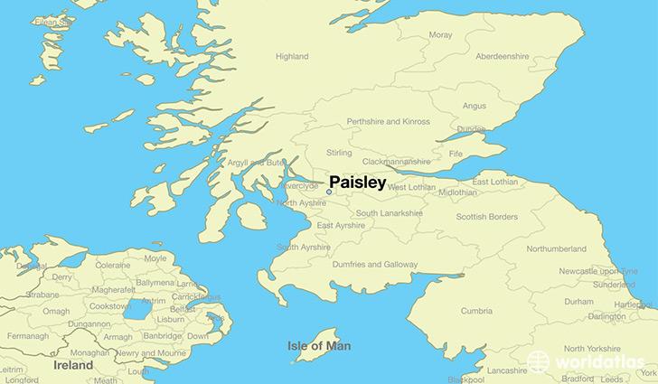 Where is Paisley Scotland  Where is Paisley Scotland Located