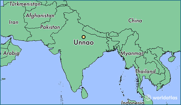 map showing the location of Unnao