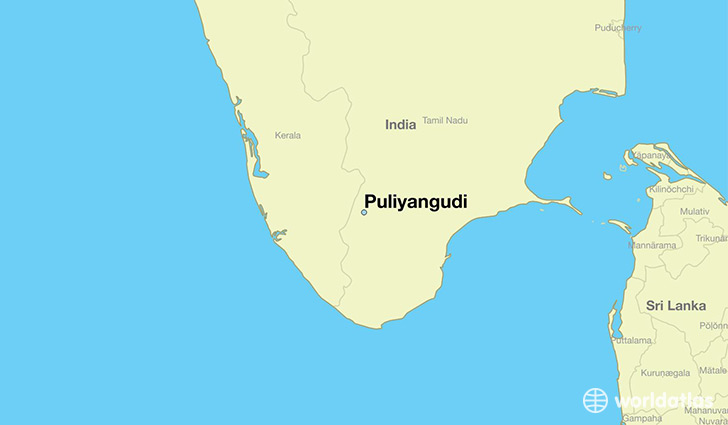 map showing the location of Puliyangudi