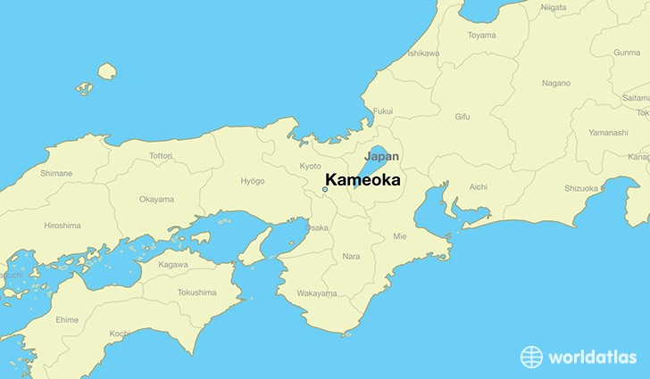 map showing the location of Kameoka