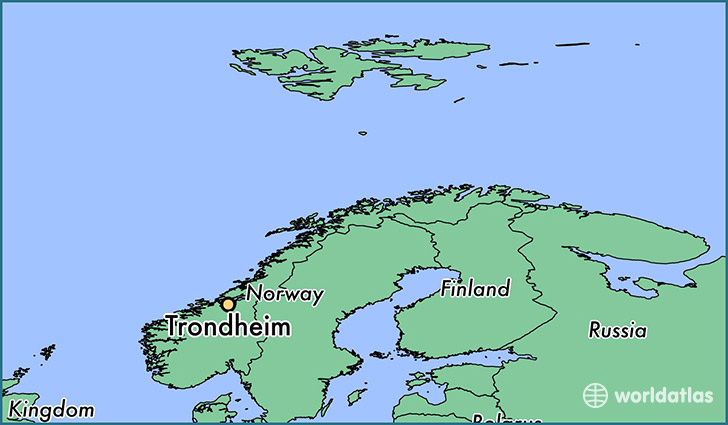 Where is Trondheim Norway Trondheim SorTrondelag Map
