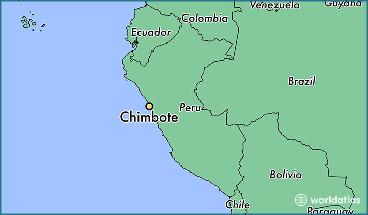 map showing the location of Chimbote