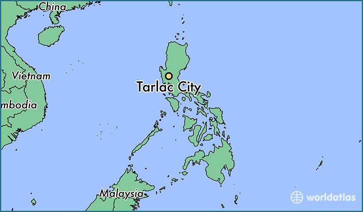 map showing the location of Tarlac City