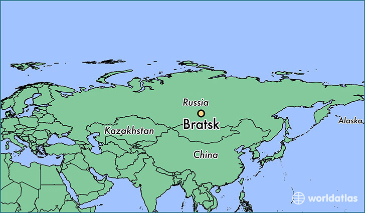 map showing the location of Bratsk