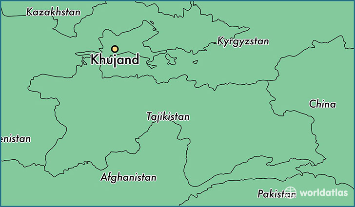 map showing the location of Khujand