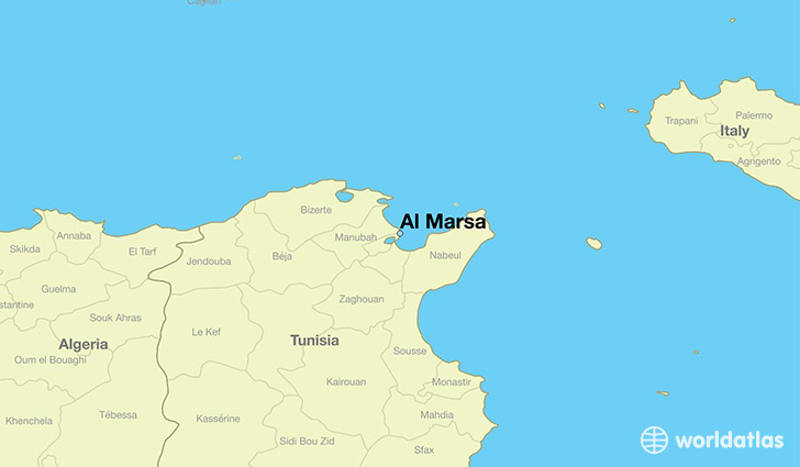 map showing the location of Al Marsa