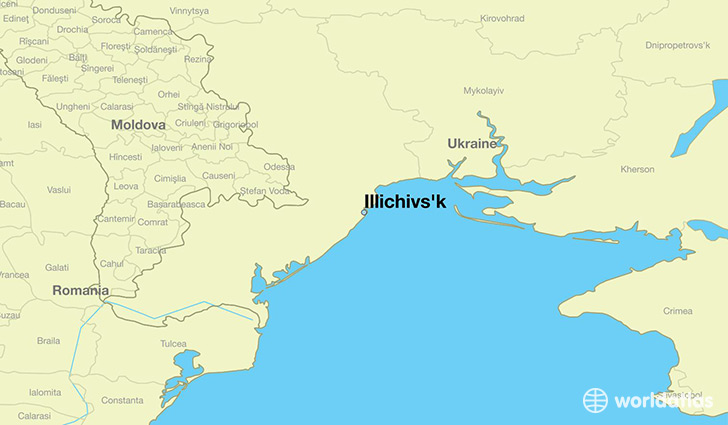 map showing the location of Illichivs'k