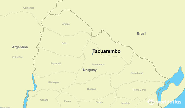 map showing the location of Tacuarembo