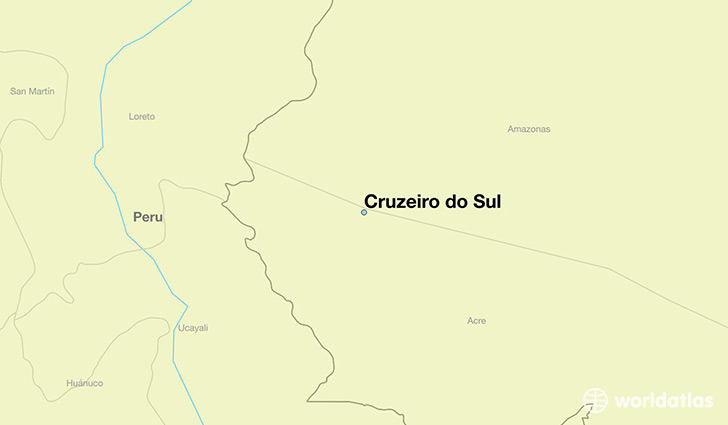map showing the location of Cruzeiro do Sul