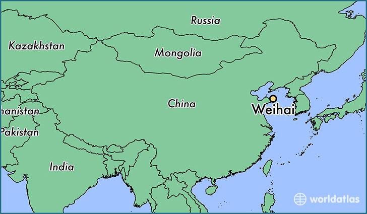 Where Is Weihai China Weihai Shandong Map