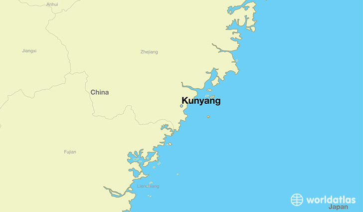 map showing the location of Kunyang