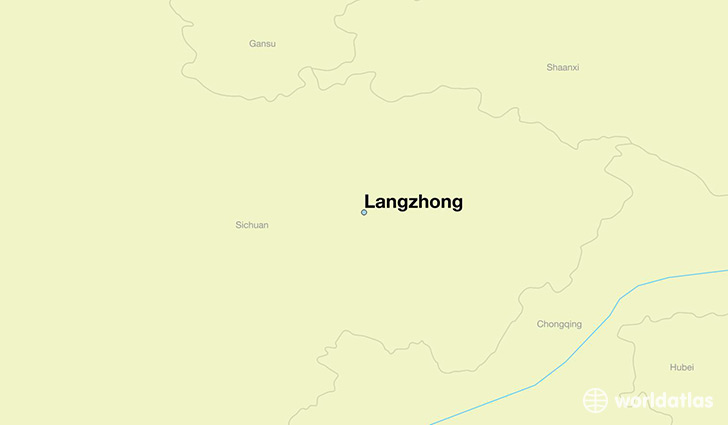 map showing the location of Langzhong