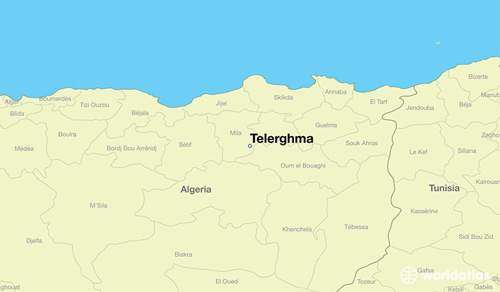 map showing the location of Telerghma