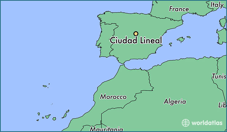 map showing the location of Ciudad Lineal