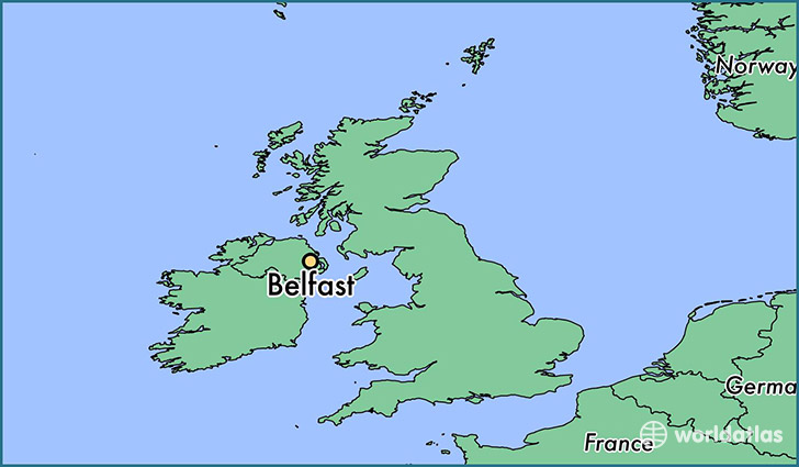 Where is belfast northern ireland belfast northern ireland map map showing the location of belfast gumiabroncs Image collections