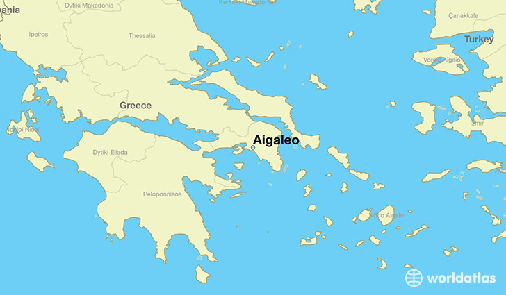 map showing the location of Aigaleo