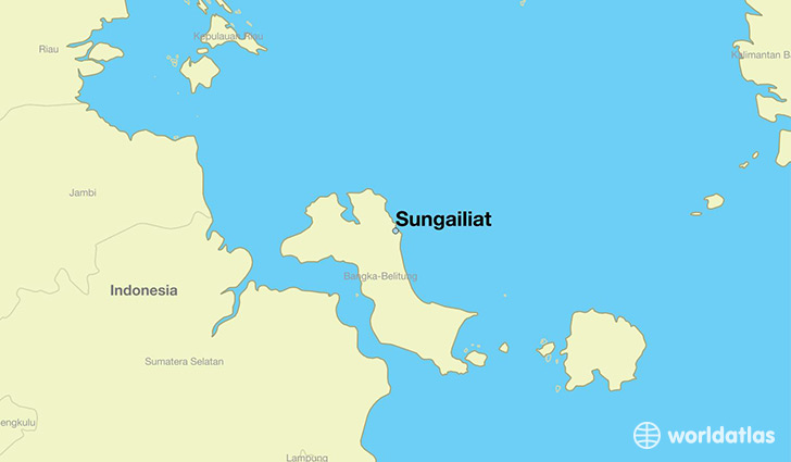 map showing the location of Sungailiat