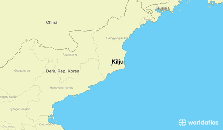 map showing the location of Kilju