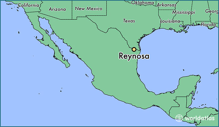 map showing the location of Reynosa