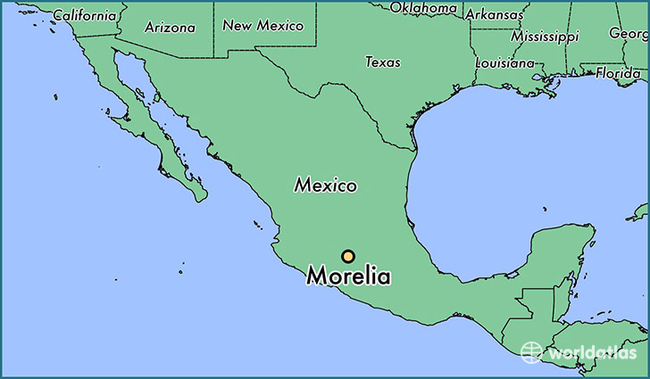 map showing the location of Morelia
